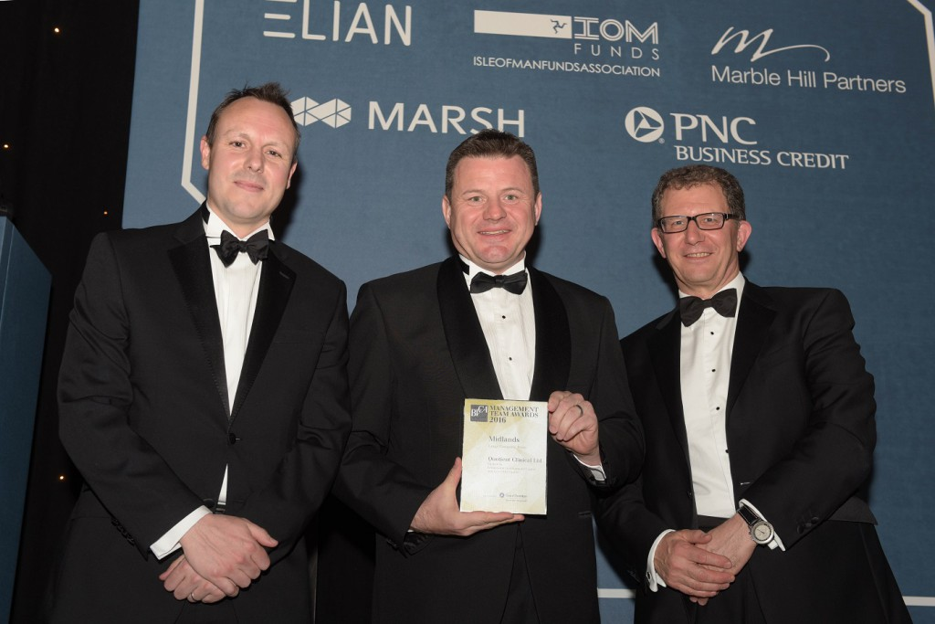 Left to right - Alex Hyde (Grant Thornton), Mark Egerton (Quotient Clinical), Alan MacKay (GHO Capital)